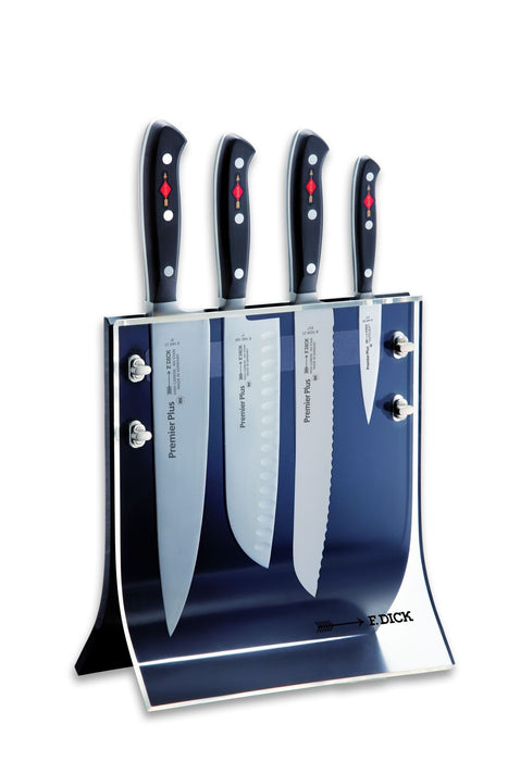 "F. Dick (8804011) ""4Knives"" Knife Block with 4-Premier Plus Knives-cityfoodequipment.com"