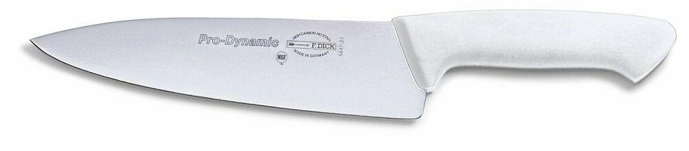 "F. Dick (8544721-05) 8"" Chef's Knife, White Handle - Pro Dynamic-cityfoodequipment.com"