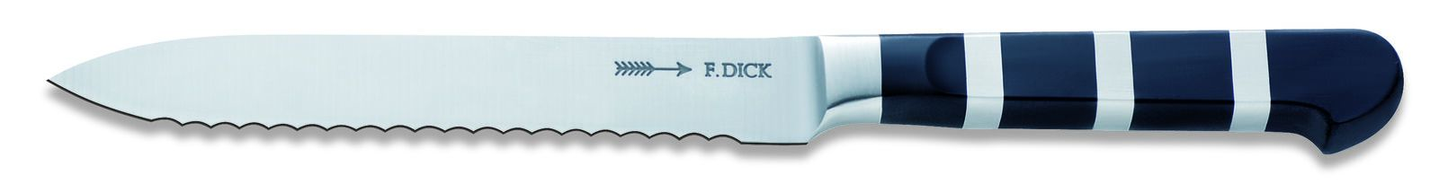 "F. Dick (8191013) 5"" Utility Knife, Serrated Edge - 1905 Series-cityfoodequipment.com"