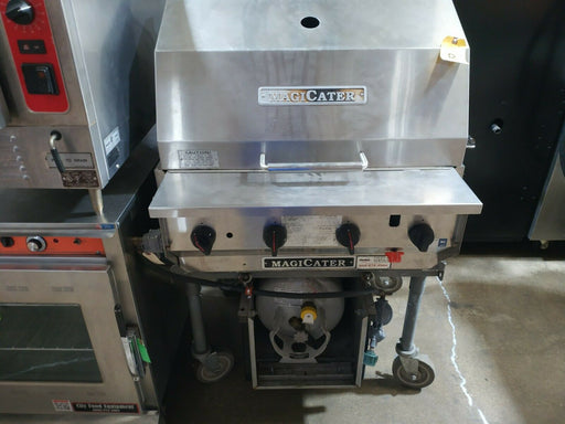 "Used MagiKitch'n LPAGA-30-SS 30"" Magicater Outdoor LP Gas Grill with Spark Ignitor-cityfoodequipment.com"