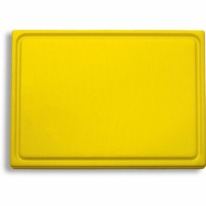 "F. Dick (9126500-02) Cutting Board, Yellow (Poultry) 12 3/4"" x 10"" x 3/4""-cityfoodequipment.com"