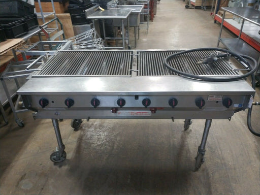 "Magicater LPG-60 - 60"" Commercial Radiant Portable Outdoor Charbroiler LP Gas-cityfoodequipment.com"