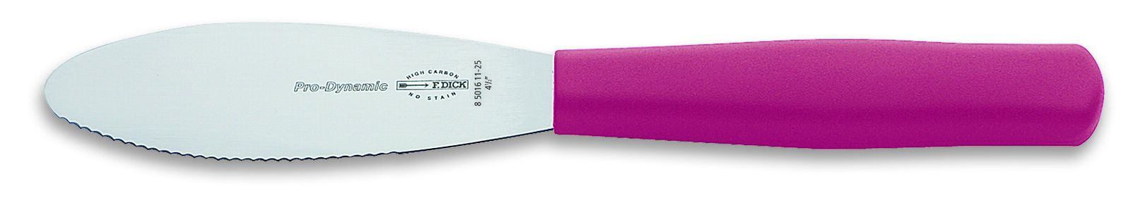 "F. Dick (8501611-25) 4"" Sandwich Knife, Serrated Edge, Pink Handle - Pro Dynamic-cityfoodequipment.com"