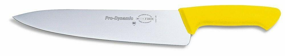 "F. Dick (8544726-02) 10"" Chef's Knife, Yellow Handle - Pro Dynamic-cityfoodequipment.com"
