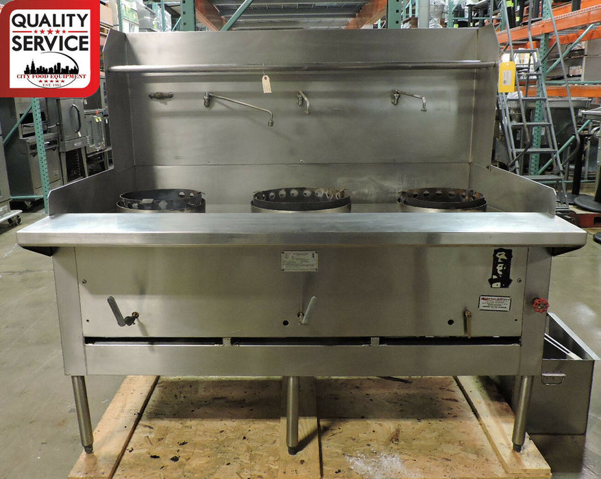 Montague Legend CRM-3 Commercial Heavy-Duty Gas 3 Jet Burner Wok Range-cityfoodequipment.com