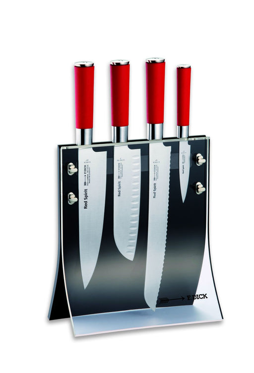 F. Dick (8177200) Knife Block 4Knives, Red Spirit, 4-Pieces-cityfoodequipment.com