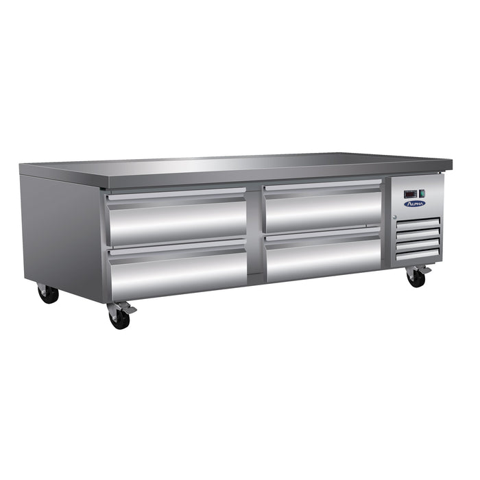 "Alpha ACBR72 Refrigerated 72"" Chef Base-cityfoodequipment.com"
