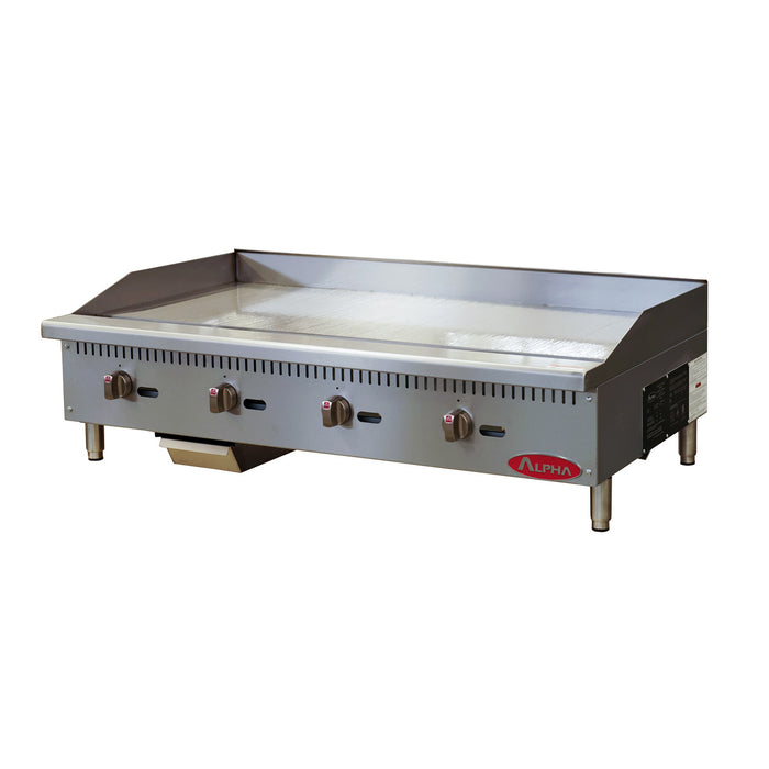 Alpha AMG-48 Gas Countertop Manual Griddle 48″ Wide-cityfoodequipment.com