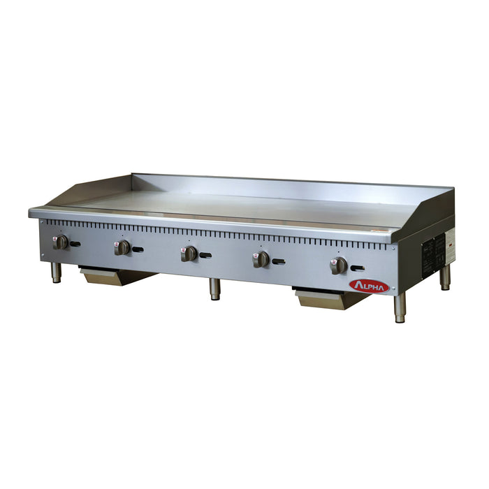Alpha AMG-60 Gas Countertop Manual Griddle 60″ Wide-cityfoodequipment.com