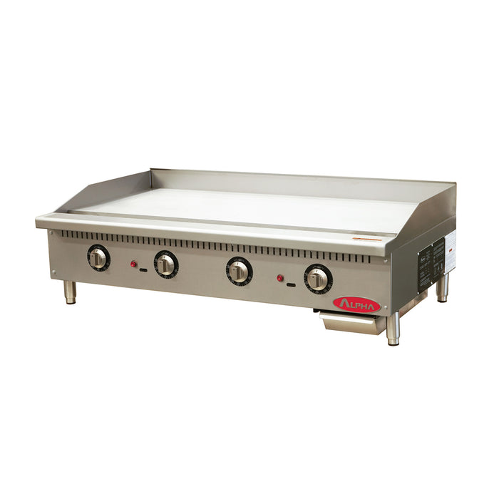 Alpha ATG-48 Gas 48″ Wide Countertop Thermostatic Control Griddle-cityfoodequipment.com