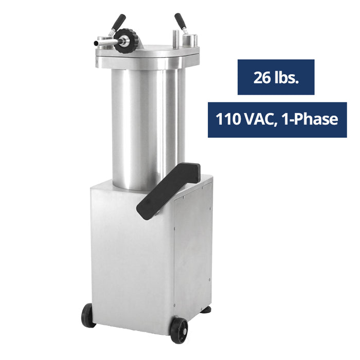 Talsa F14S/26All Stainless Hydraulic 26 LB Sausage Stuffer - 1 Phase 110 Volts-cityfoodequipment.com