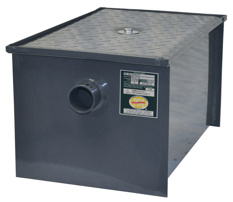 BK 40LB. - 20 GPM Commercial Grease Interceptor-cityfoodequipment.com