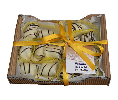 Dolci Pensieri Fig Pralines with White Choc/Coffee 200g