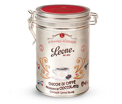 Leone Chicco Di Caffe Tin (Choc Coated Coffee Beans) 150g