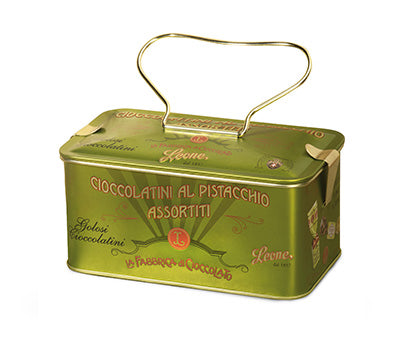 Leone Pistachio Chocolate Tin 150g