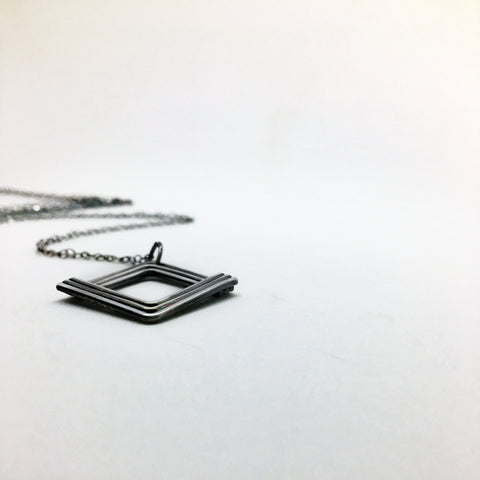 Simple Long Silver Necklace