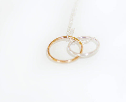Infinity Necklace in Sterling Silver and 14K Gold Fill
