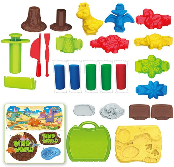 Modeling Clay 26 Piece Dinosaur Set