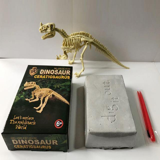 Large DIY Excavation Dinosaur Kit Box Option 1 - Packed Toy Boxes