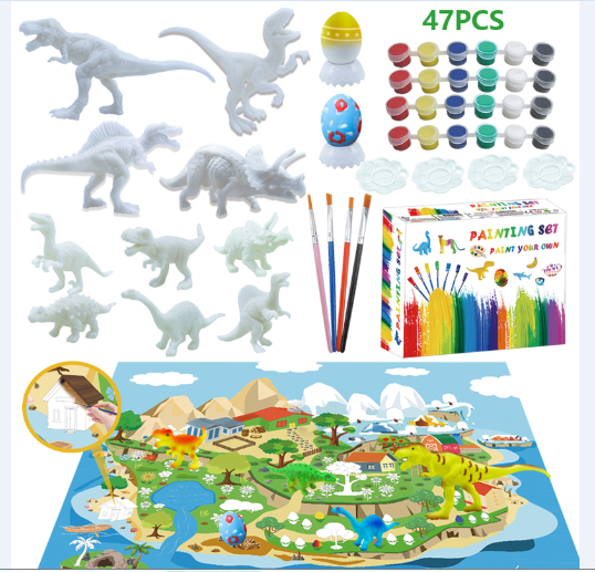 Paintable Dinosaur Set 47pcs