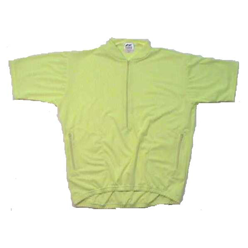 Recumbent Cycling Jersey Flourescent Yellow #2