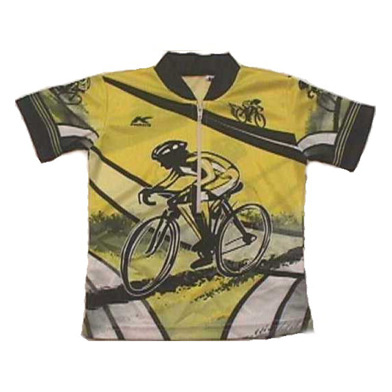 Sublimated Yellow/Black Racer Baby/Infant Bike Jersey