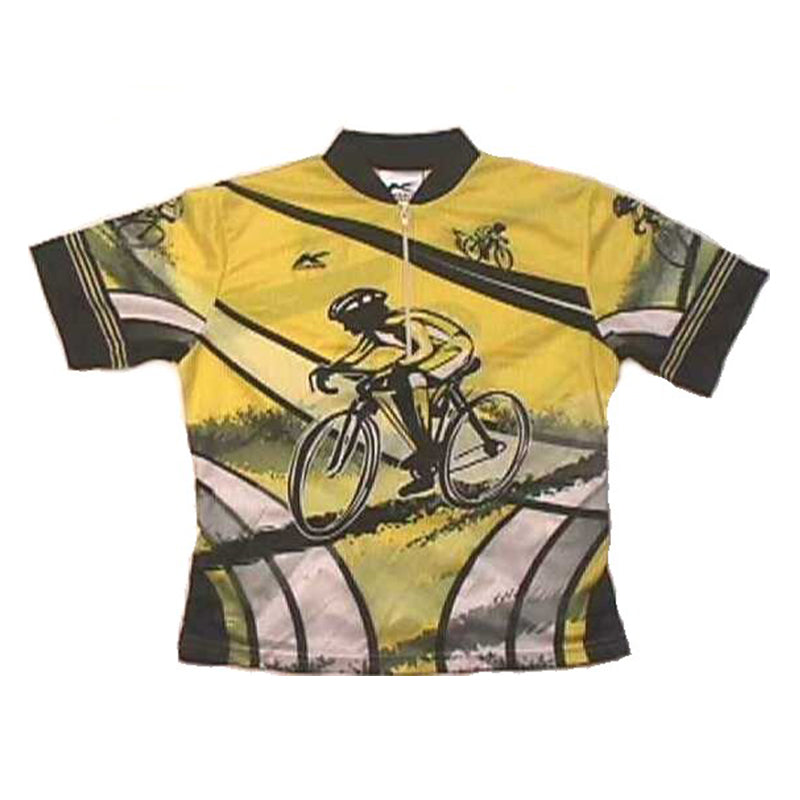 Kids Sublimated Jersey Yellow Black Racer | Kucharik