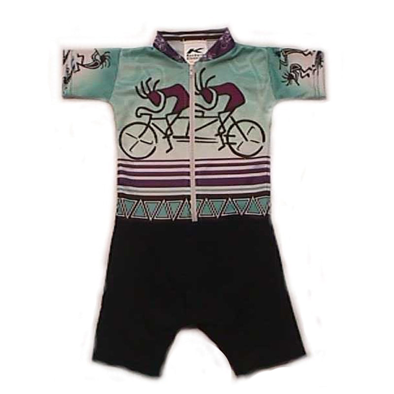 Sublimated Baby Suits Kokopelli Aqua Tandem
