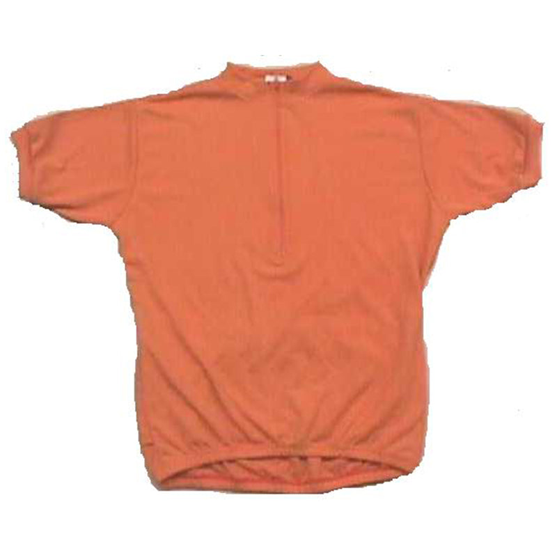 Merino Wool Cycling Jersey - Short Sleeve - Plain Orange
