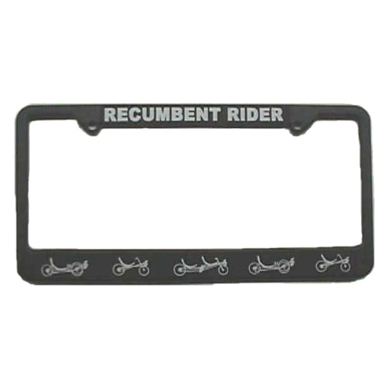 Recumbent Rider License Plate Cover