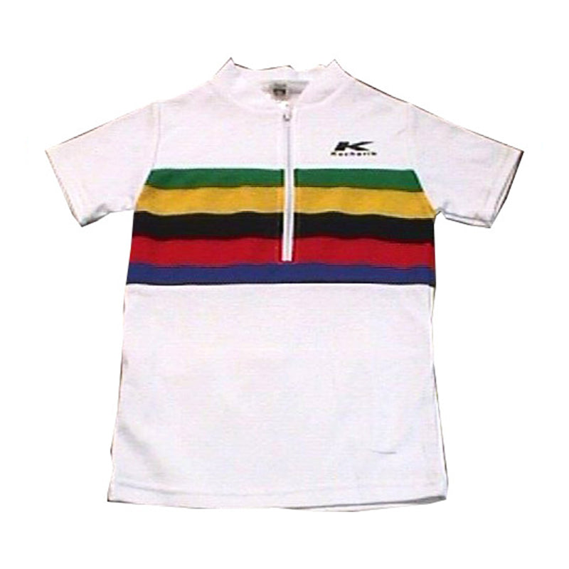 Kids Tops White Olympic Cotton Poly Fabric.