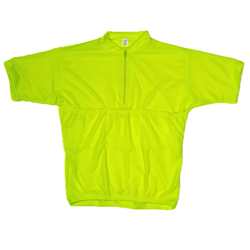 Recumbent Cycling Jersey Flourescent Yellow