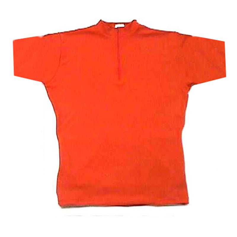 Merino Wool Cycling Jersey - Short Sleeve - Bright Orange