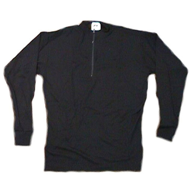 Merino Wool Cycling Jersey - Black - Long Sleeve