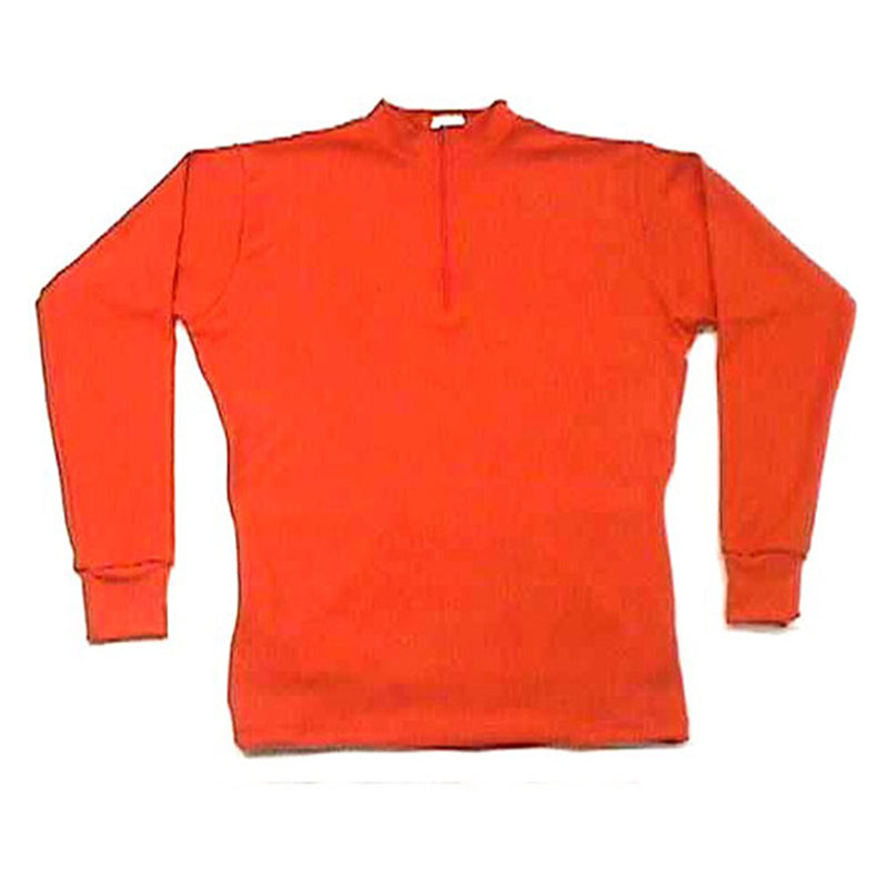 Merino Wool Cycling Jersey - Bright Orange - Long Sleeve