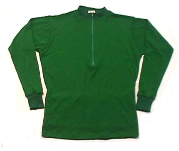 Merino Wool Cycling Jersey | Green  | Long Sleeve Bicycle Apparel