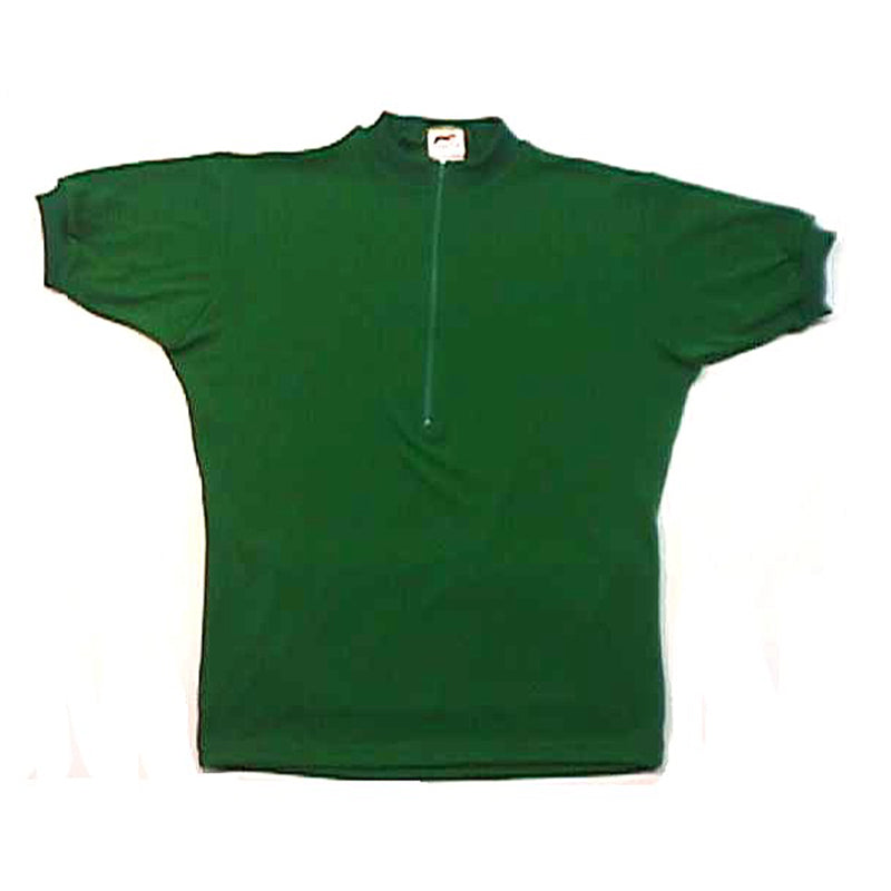 Merino Wool Cycling Jersey - Short Sleeve - Green