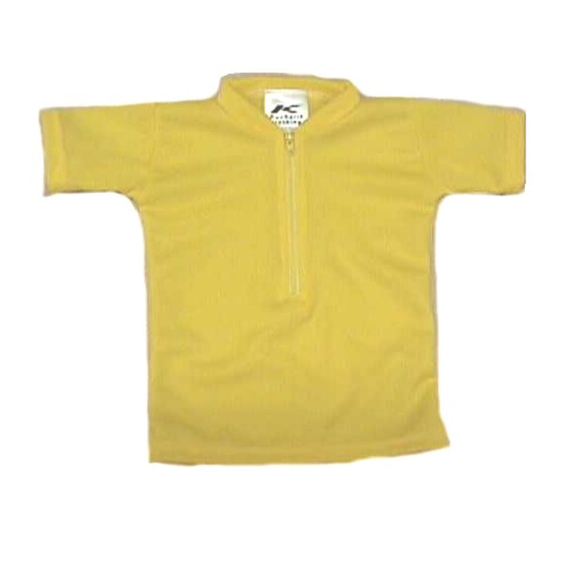 Coolmax Solid Yellow Baby/Infant Bike Jersey