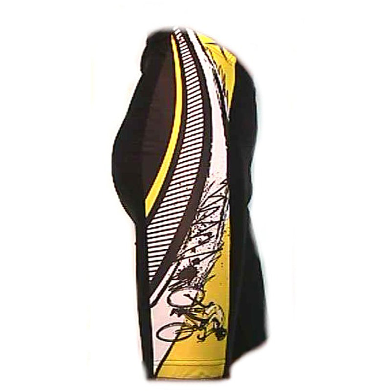 Yellow Black Racer Shorts