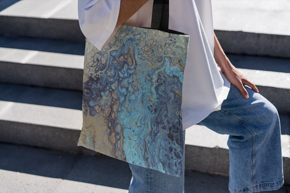 Teal Angel Tote bag