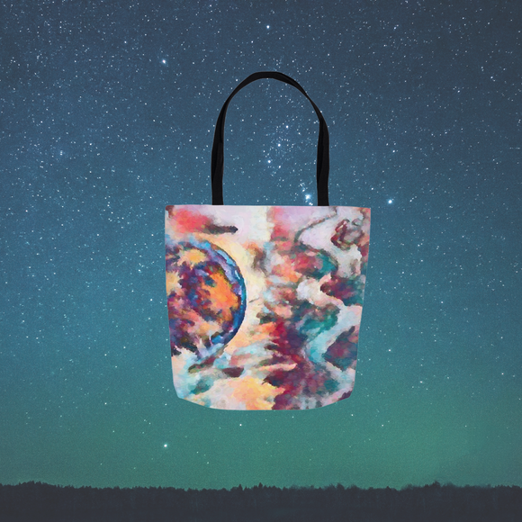Abstract Moon Tote Bag