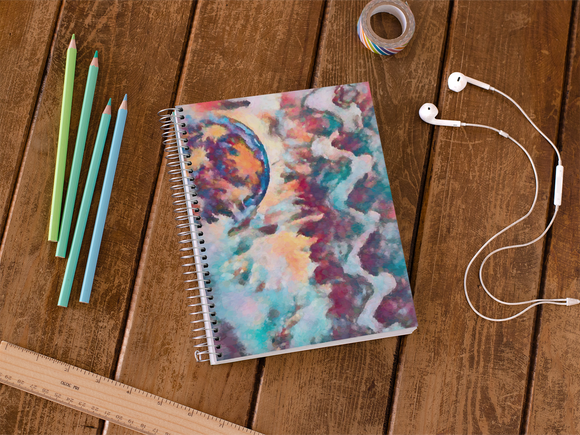 Abstract Moon Notebook