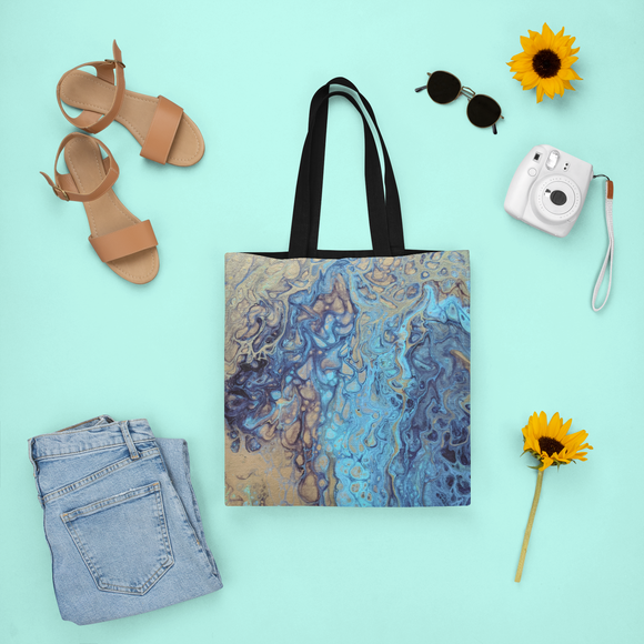 Teal Angel Tote