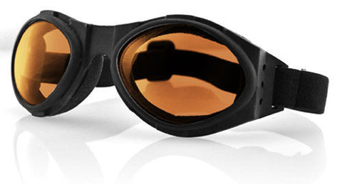 Biker Goggles Bobster Bugeye Clear, Amber, Smoke or Dark Mirror