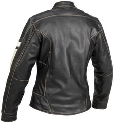 Womens Vintage Style Motorcycle Jacket