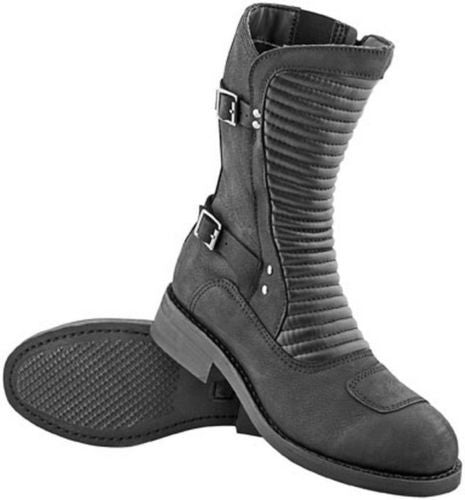 "Womens Motorcycle Boots ""Speed Society""  Speed and Strength Black"