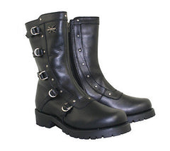 Womens Siren Strap Motorcycle Boots - Black Import