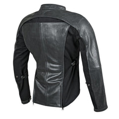 Speed and Strength Speed Society Leather-Textile Jacket Black and White or Solid Black