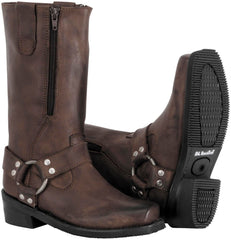 "Womens Motorcycle Boots ""River Road"" Black or Brown"