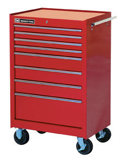 Wright Tools VMJ Red 8-Drawer Roller Cabinet, (with Roller Bearing Slides)